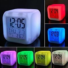 코웨이 다채로운 압축 해제 주도 알람 시계 야간