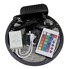 W Fleksible LED-lysstriber Lyssæt RGB-Lysstriber lm Vekselstrøm100-240 5 m leds RGB