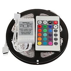 5m 300x3528 smd rgb vandtæt og 24key fjernbetjening led strip lys