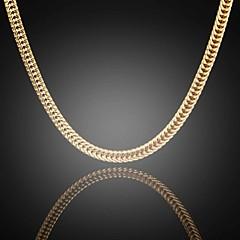 nooit vervagen jack mannen 24k echt goud vergulde figaro dun plat schakelkettingen ketting van hoge kwaliteit voor mannen 6mm 75cm