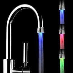 RC-f1101 미니 세련된 물 스트림 온도 센서 발광 LED가 빛을 수도꼭지 등 (플라스틱, 크롬 마무리)
