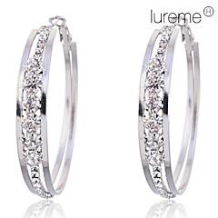 Damskie Kolczyki koła biżuteria kostiumowa Kryształ Imitacja diamentu Stop Circle Shape Biżuteria Na Impreza Codzienny