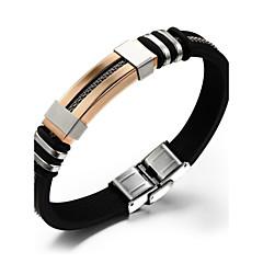 Heren Lederen armbanden Siliconen Titanium Staal Sieraden Voor Bruiloft Feest Dagelijks Causaal Sport