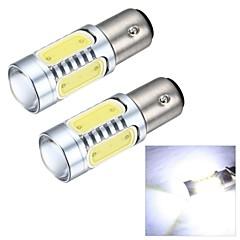 merdia 1157 7,5 W-os 600lm csutka 4smd vezetett, és 1 kondenzátor lencse fehér fény tolatólámpa / féklámpa (12V / pár)
