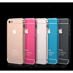 iPhone 5/iPhone 5S - Puskurikuori/Takakuori - Yhtenäinen väri/Metalli/Erikoismuotoilu/Uutuudet (