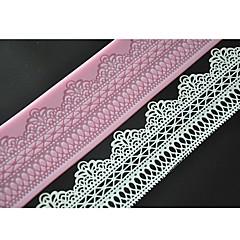 Vier-c Kuchen machen Werkzeuge süße Spitze Matte Spitze Silikonform Farbe rosa lfm-11