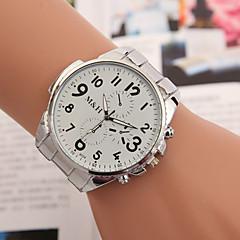 yoonheel Bayanların Moda Saat Quartz Metal Bant Gümüş Beyaz Siyah