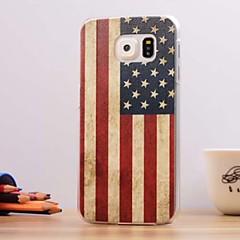 Mert Samsung Galaxy tok Dombornyomott Case Hátlap Case Zászló PC Samsung S6