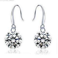 Σκουλαρίκι Κρεμαστά Σκουλαρίκια Κοσμήματα 2pcs Γάμου / Πάρτι / Καθημερινά / Causal Ασήμι Στερλίνας / Πετράδι Γυναικεία Λευκό