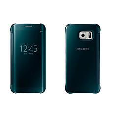 Mert Samsung Galaxy tok tokok Betekintő ablakkal Automatikus készenlét / ébresztés Tükör Flip Teljes védelem Case Egyszínű Puha PC mert