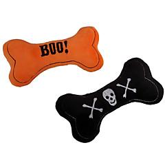 Zabawka dla kota Zabawka dla psa Zabawki dla zwierząt Zabawki do żucia Zabawki Pluszowe Pisk Kość Halloween Tekstylny