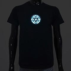 T-shirty LED Aktywowane dźwiękiem diody LED Bawełna Nowość