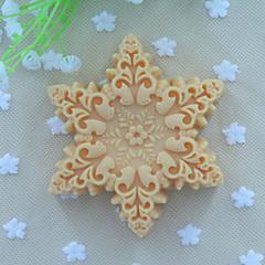 sneeuwvlokken vorm zeep schimmel fondant cake chocolade siliconen schimmel, decoratie gereedschap bakvormen