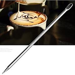 ανοξείδωτο καφέ τρύπημα από βελόνα βελονάκι σκαλιστά ζωγραφισμένα λουλούδια σκαλισμένα φανταχτερό βελόνα καφέ (1 τεμ)