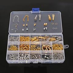 beadia 1set ékszerek megállapításait homár csattal&sapka&ugrás gyűrűk&préselje gyöngyök&hosszabbító lánc (aprx 800pcs)