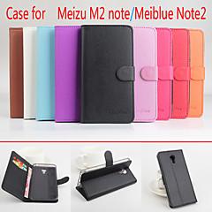 Varten Meizu kotelo Lomapkko / Korttikotelo / Tuella / Flip / Magneetti Etui Kokonaan peittävä Etui Yksivärinen Kova Tekonahka Meizu