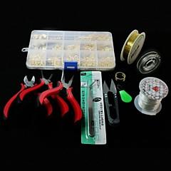 beadia 1set DIY ékszer eredmények kit fogó&nyírás&ugrás gyűrűk&wrie&rugalmas szakaszon zsinórok&csapok