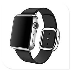 Faixa de relógio para relógio de maçã 38mm 42mm fivela moderna pulseira de faixa de reposição de couro genuíno
