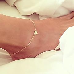 Pentru femei Brățară Gleznă/Brățări Placat Auriu Design Unic La modă stil minimalist costum de bijuterii Heart Shape Bijuterii Bijuterii