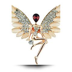 Anioł dziewczyna kryształ opal broszka skrzydła