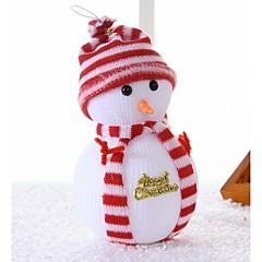 Karácsonyi hóember karácsonyfa jelenet dekoráció ellátja a babát