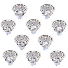 5W GU5.3(MR16) LED szpotlámpák MR16 3 COB 450 lm Meleg fehér / Hideg fehér Dekoratív AC 85-265 / DC 12 / AC 12 V 10 db.