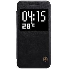 Voor HTC hoesje Kaarthouder / met standaard / Flip hoesje Volledige behuizing hoesje Effen kleur Hard PU-leer HTC