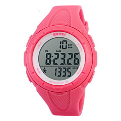 SKMEI Női Sportos óra digitális karóra Digitális LCD Naptár Kronográf Vízálló riasztás Sportos óra Gumi Zenekar Fekete Kék Zöld Pink