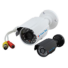 yanse® 1000tvl 3,6 χιλιοστά αλουμινίου IR κάμερα δ / n CCTV 24 οδήγησε την ασφάλεια αδιάβροχο ενσύρματο 6624cf