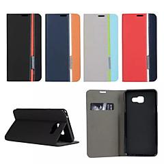 Mert Samsung Galaxy tok Kártyatartó / Állvánnyal / Flip / Minta / Mágneses Case Teljes védelem Case Mértani formák Műbőr SamsungA7(2016)