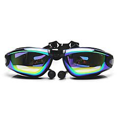 Úszás Goggles Páramentesítő Állítható méret UV-védő Vízálló Szilícium-dioxid gél PC Fehér Szürke Fekete Others ÁtlátszóRózsaszín Szürke