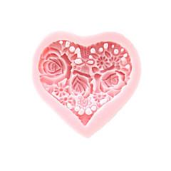 3D Heart Λουλούδια φόρμα σιλικόνης Fondant Καλούπια Ζάχαρη Τέχνη Εργαλεία Chocolate Mould για κέικ