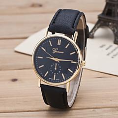 Mulheres Relógio de Moda Relógio Casual Quartzo Couro Banda Preta Marrom Branco Preto Amarelo