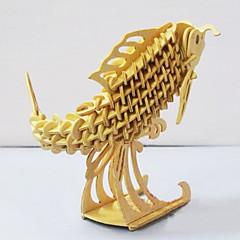 بانوراما الألغاز قطع تركيب3D تركيب خشبي اللبنات DIY اللعب سمك خشب