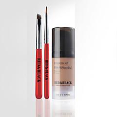 czerwony&Zestaw brwi czarne rozszerzenie zasięgu kształt brwi makijaż 3d mocowanie 12ml