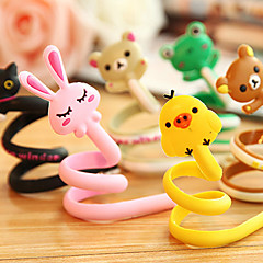 1db rajzfilm állat fülhallgató fejhallgató kábel görgős vezeték szervező pakolás csörgőkígyó (véletlenszerű szín)