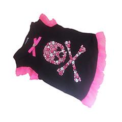 Psy T-shirt Black Ubrania dla psów Lato Czaszki / Serca