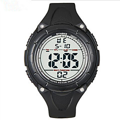 SYNOKE Herre Sportsur Armbåndsur Digital LCD Kalender Kronograf Vandafvisende alarm Selvlysende Gummi Bånd Sort