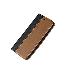 Na Etui do Motoroli Etui na karty / Z podpórką / Flip Kılıf Futerał Kılıf Tekstura drewna Twarde Skóra PU Motorola