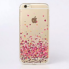 Til iPhone X iPhone 8 iPhone 7 iPhone 7 Plus iPhone 6 iPhone 6 Plus Etuier Ultratyndt Transparent Mønster Bagcover Etui Hjerte Blødt TPU