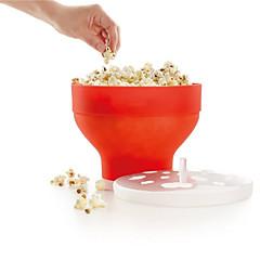 Mikrowelle Popcorn Maker Silikon Pop Corn Schüssel Eimer mit Deckel Küche Backen Werkzeuge