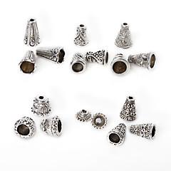 beadia 86pcs vegyes 6 stílus&méretek antik ezüst ötvözetből gyöngy sapka fém távtartó gyöngyök