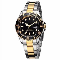 Masculino Relógio Elegante Relógio de Moda Relógio de Pulso Quartzo Calendário Colorido Aço Inoxidável Banda Vintage Legal Casual Luxuoso