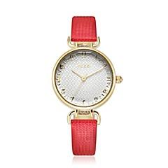 KEZZI Dames Modieus horloge Kwarts Japanse quartz PU Band Bloem Vrijetijdsschoenen Elegante horloges Zwart Blauw Rood Roze Kaki