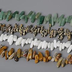 자연 돌 구슬 beadia 10-30mm 불규칙한 모양의 돌 스페이서 구슬 38cm / STR (약 50PCS)