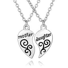 Heren Dames Hangertjes ketting Hartvorm Geometrische vorm Verzilverd Legering Liefde Hart Initial Jewelry Europees Modieus Aanbiddelijk