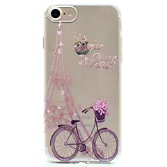 For iPhone 7 etui iPhone 6 etui iPhone 5 etui Mønster Etui Bagcover Etui Eiffeltårnet Blødt TPU for AppleiPhone 7 Plus iPhone 7 iPhone 6s