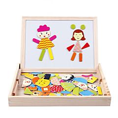 Legpuzzels Educatief speelgoed Bouw blokken DHZ-speelgoed Vierkant Hout