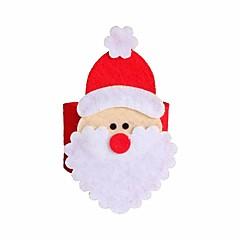 4 개 크리스마스 산타 클로스 냅킨 링 냅킨 홀더 테이블 크리스마스 장식 레스토랑