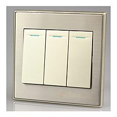 (86) 벽 스위치 패널 3 개의 단일 패널 스위치